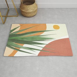 Abstract Agave Plant Rug