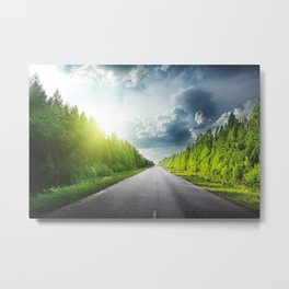 Road Through Forest Metal Print