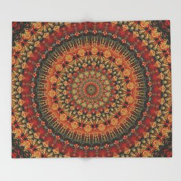 Mandala 563 Throw Blanket