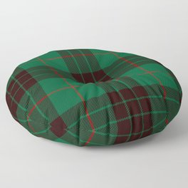 Dark Green Tartan with Black and Red Stripes Floor Pillow