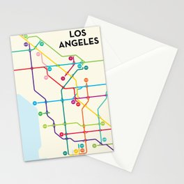 Los Angeles Freeway System Stationery Cards