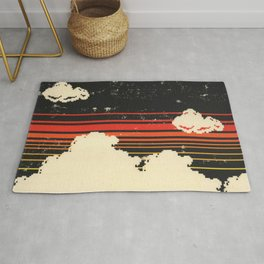 Clouds in the Sky at Night Rug