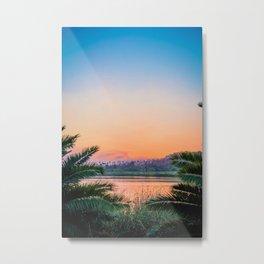 Between the Palms (Color) Metal Print