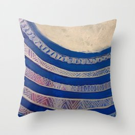 Chubby Tail and Moon Beams Throw Pillow