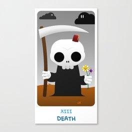 The Chibi Tarot - XIII Death Canvas Print