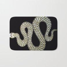 Snake's Charm in Black Bath Mat