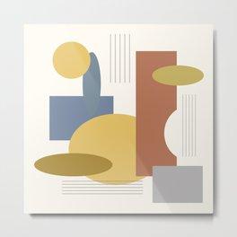 Mid Century Modern Geometric 30  #society6 #tapestry #posters #artprint Metal Print
