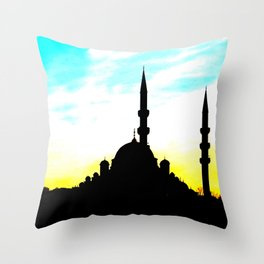 mosque in Istanbul Throw Pillow