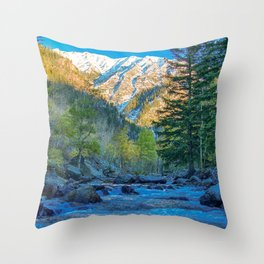 River Bed Sunrise // Long Exposure Landscape Photograph in the Colorado Rocky Mountains Throw Pillow