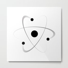 Atomic Mass Structure Metal Print