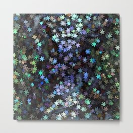 Fairy Light Stars Metal Print