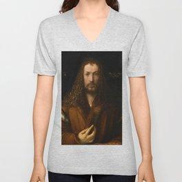 "Albrecht Dürer ""Self-portrait at 28"" Unisex V-Neck"