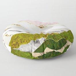 Spring Mountain Floor Pillow