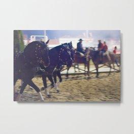 Feira da Golega 2015 3 horses 35 mm Metal Print