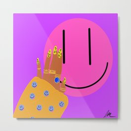 Finger Happy Metal Print