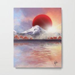Sun and Mountains Metal Print