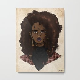 Cowgirl Witch Metal Print