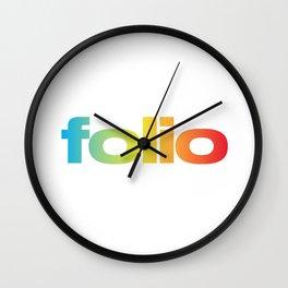 Folio Rainbow Wall Clock
