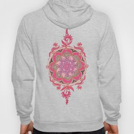 Hot Pink, Magenta and Orange Super Boho Medallions Hoody
