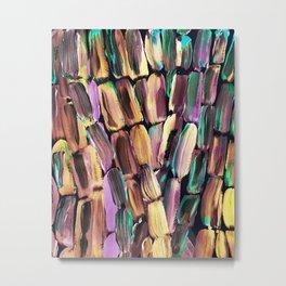 Neon Nighttime Sugarcane Metal Print