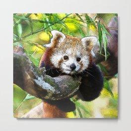 CArt red Panda Baby Metal Print