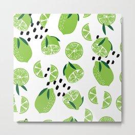 Lime Pattern 01 Metal Print