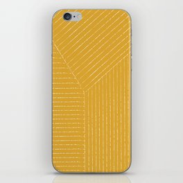 Lines / Yellow iPhone Skin