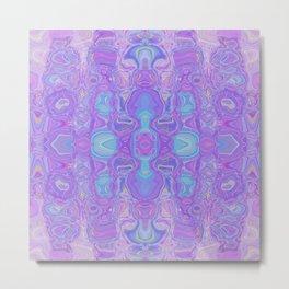 Lavender Dreams Abstract Metal Print