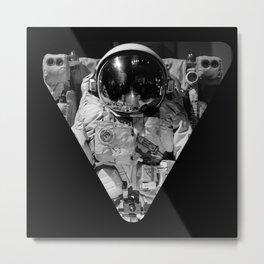 Astronaut Triangle Metal Print