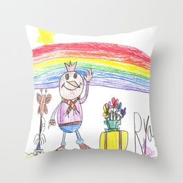 Spud's Great Day Throw Pillow