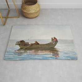 Three Boys In A Dory With Lobster Pots - Digital Remastered Edition Rug