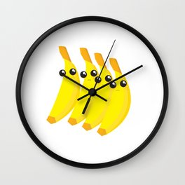 bananas throwing shade Wall Clock