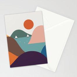 Cat Landscape 12 Stationery Cards