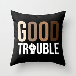 John Lewis, Good Trouble Throw Pillow