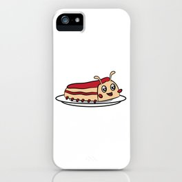 """Cute funny and attractive """"Worm Cake"""" tee design. Perfect gift this holiday season to your friends!  iPhone Case"""