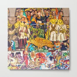 History of Mexico by Diego Rivera Metal Print