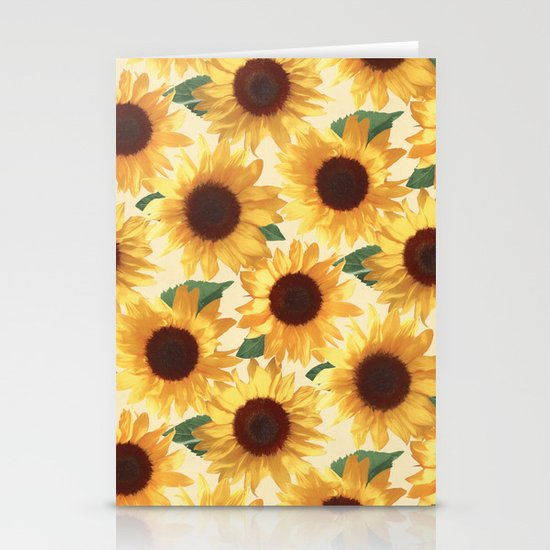 Happy Yellow Sunflowers by micklyn
