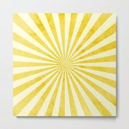 Retro Yellow Sunshine Metal Print