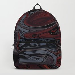 Grey & Red Abstract Painting Backpack