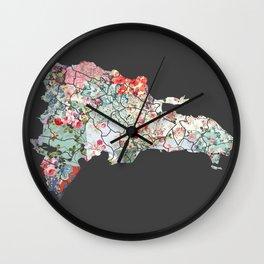 Dominican Republic map #2 Wall Clock