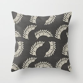 When the leaves become wings - Gray and beige Throw Pillow