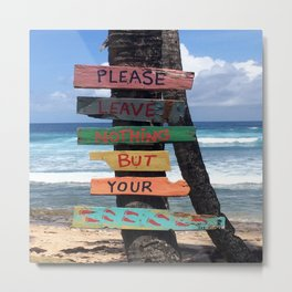 Beach Signs Metal Print