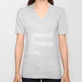 Speedometer Atom Physics Thermometer Unisex V-Neck