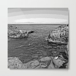 dramatic black and white - Tenerife Metal Print