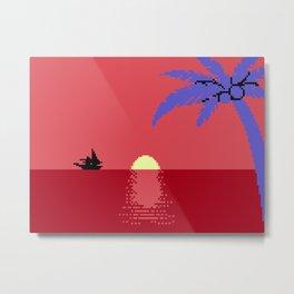 Voyage at the Cantaloupe Seas Metal Print