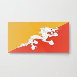 Flag of bhutan-,Bhutan, Himalaya, South Asia,Bhutanese, bhoutan, bhoutanais, dragon Metal Print