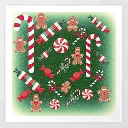 Christmas Candy Cheer Art Print