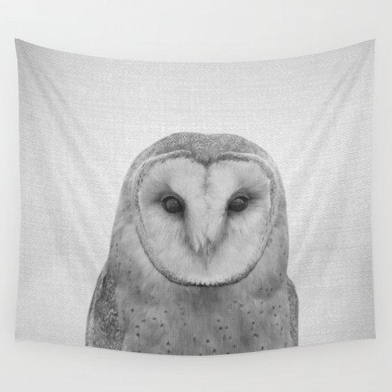 Owl - Black & White by galdesign
