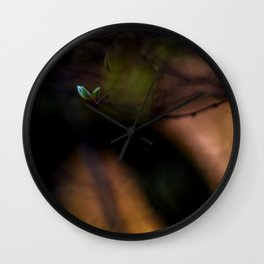 Concept nature : The lonely bud Wall Clock