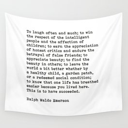 To Laugh Often And Much, Success, Ralph Waldo Emerson Quote. Wall Tapestry